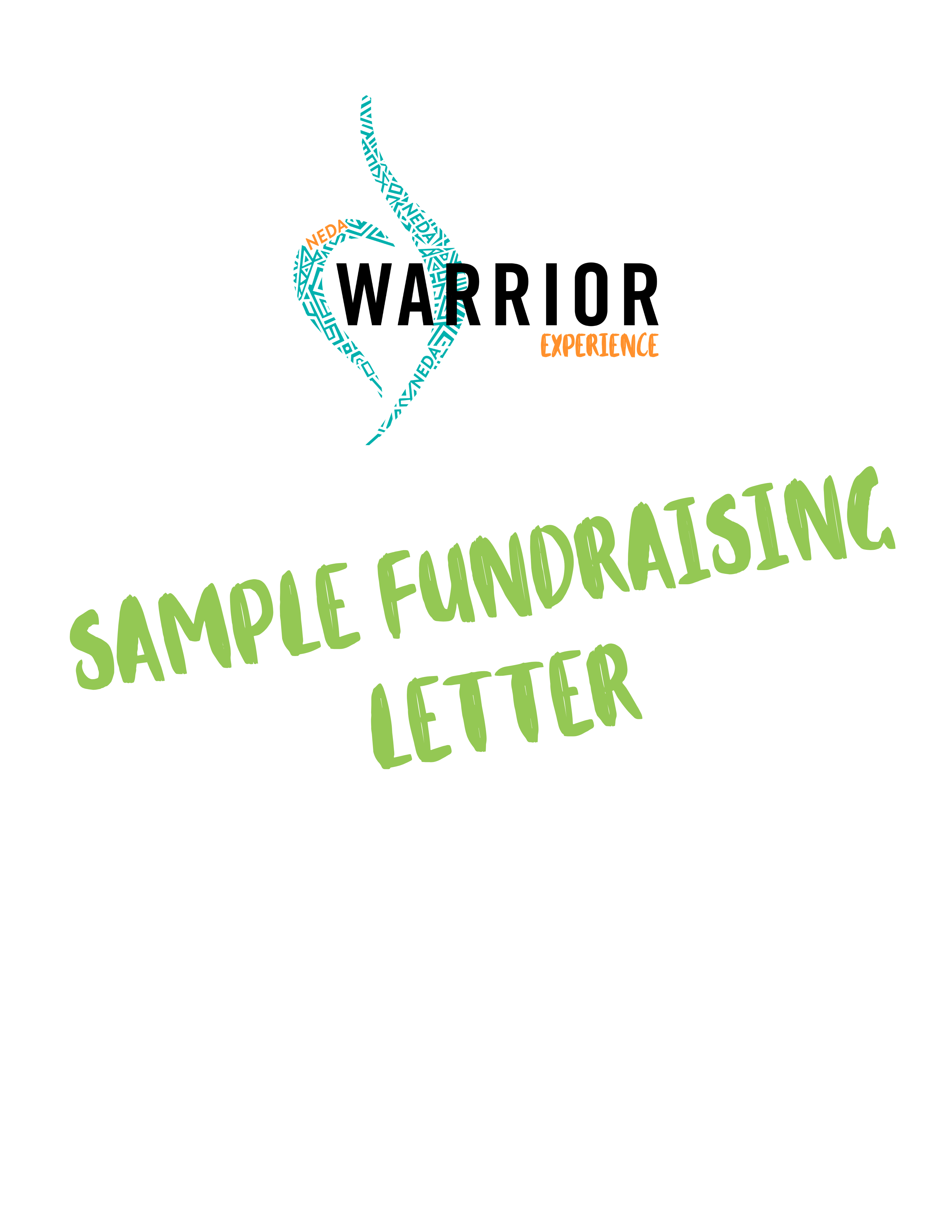 Sample Fundraising Letter